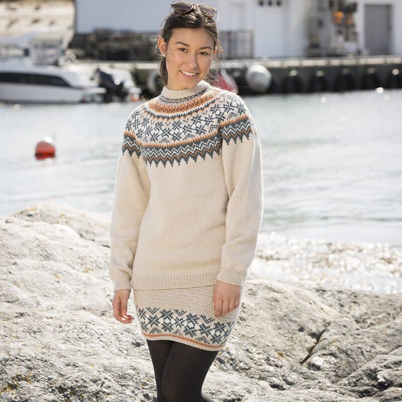 abaa916e 1709-4 Fryd genser og skjørt Dame - Viking of Norway