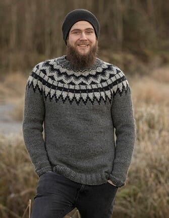 Aspen genser str. xs m (mørk grå) Viking of Norway