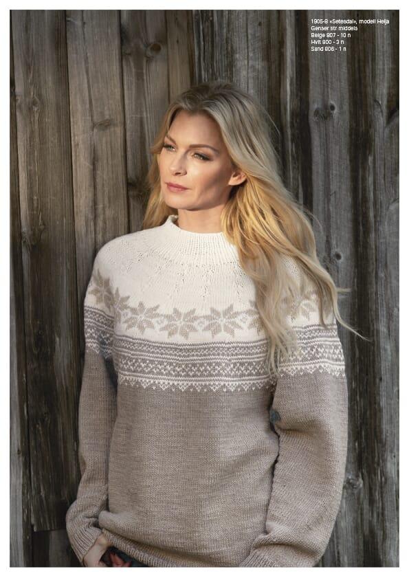 Viking garn Setesdal genser Helja | strikkepakke