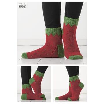 """2104-6 """"Jordbær""""-sokken"""